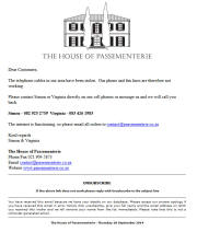 The House of Passementerie